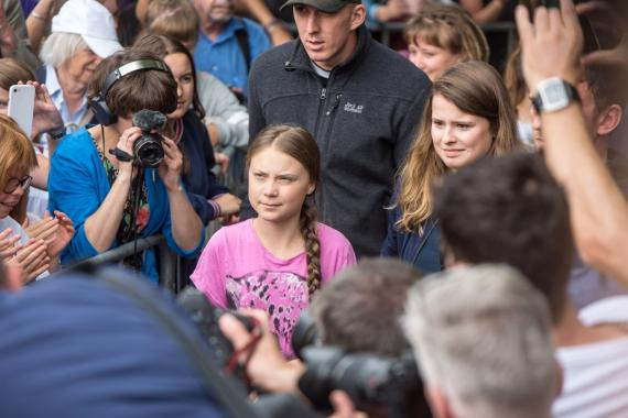 Greta Thunberg in Hamburg, Juli 2019